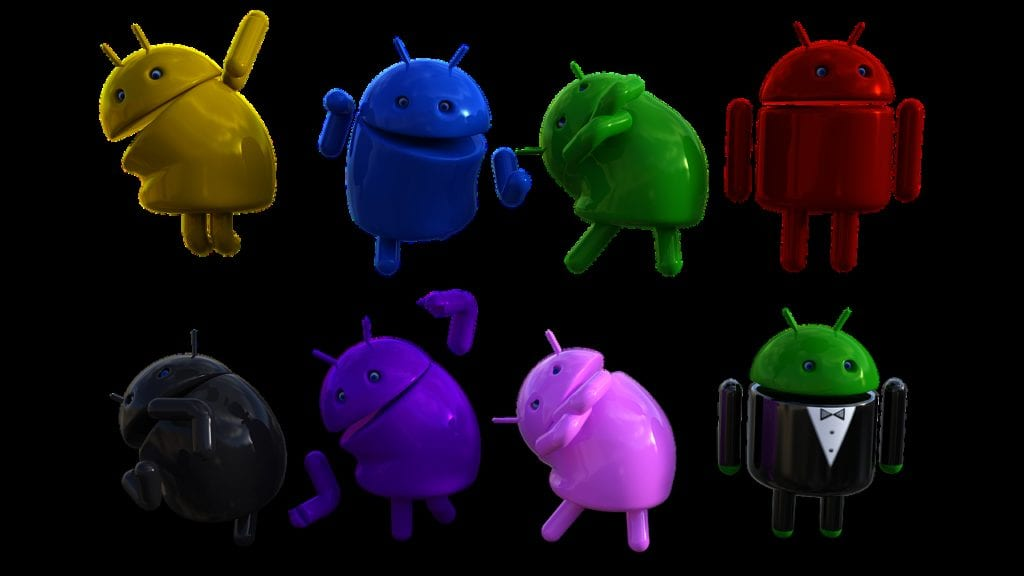 android, logo, bot