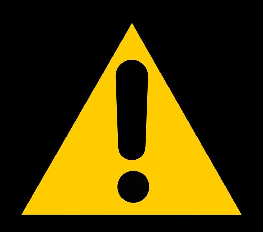 sign, caution, warning