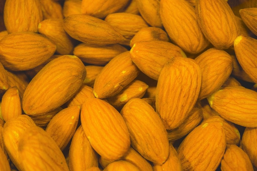 almonds, sunbaked, natural