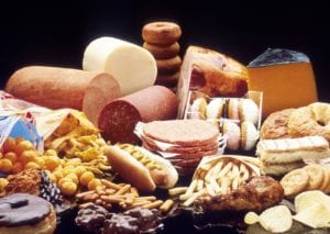 fat foods, pastries, cheeses