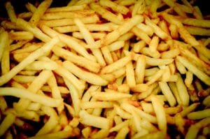 french fries, eating, fastfood