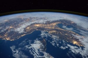 international space station, view, space