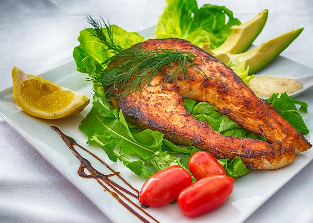 salmon, fish, grilled fish