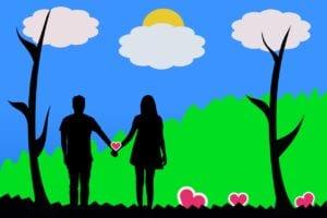 love, romance, hand-in-hand