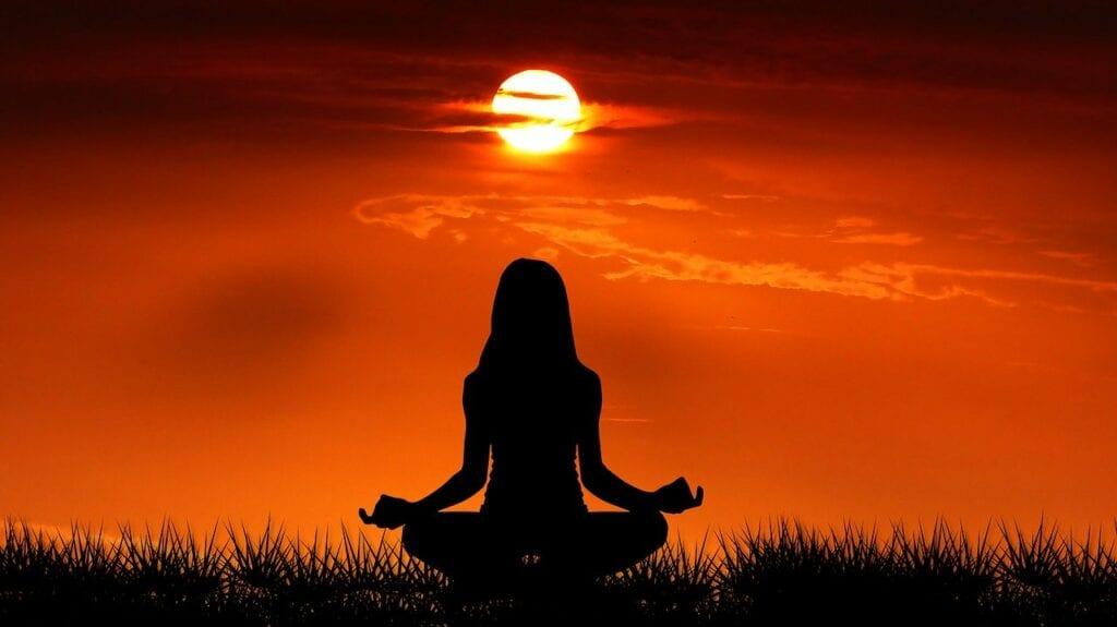 sunrise, yoga, nature