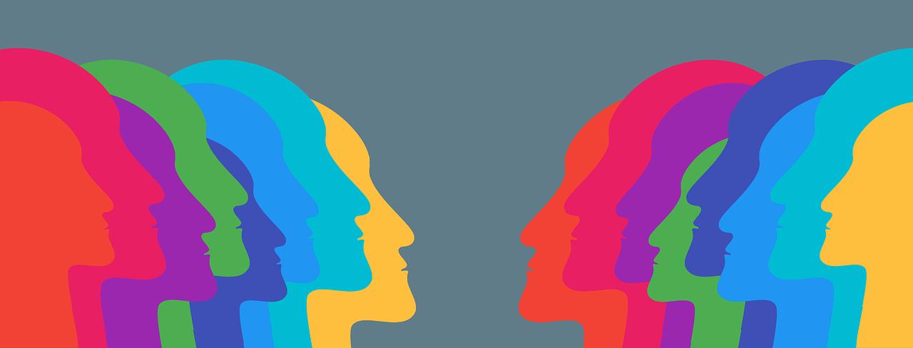 head, silhouette, group